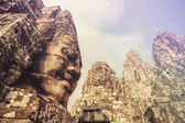 Photo towers of ancient Bayon Temple