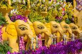 Chiang Mai, Thajsko - 4 února 2017: Výročí Chiang Mai Flower Festival 2017 slavnostní zahájení