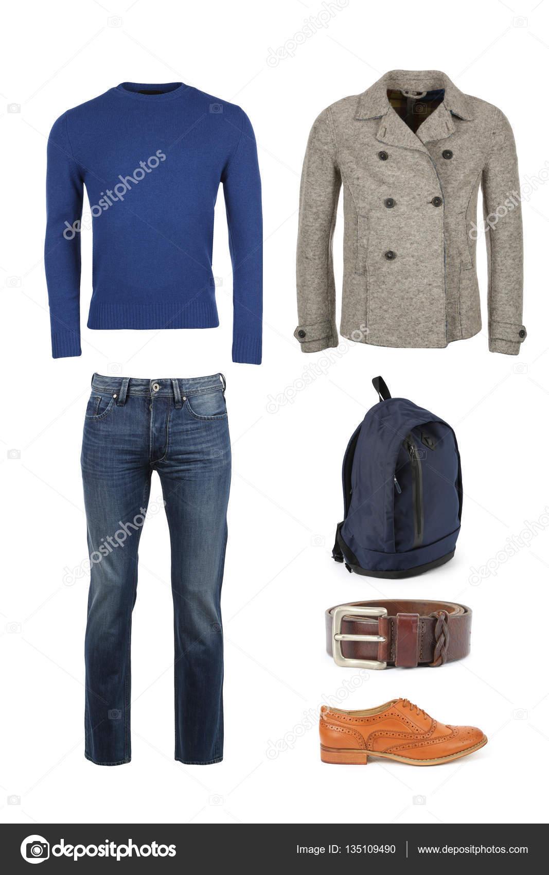 finest selection ea4fd 79ba4 Die Sammlung von Freizeitkleidung für Männer — Stockfoto ...