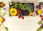 egészséges élelmiszer-háttér