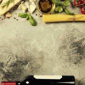 Italské jídlo. Zvětšit pozadí s prostorem pro text