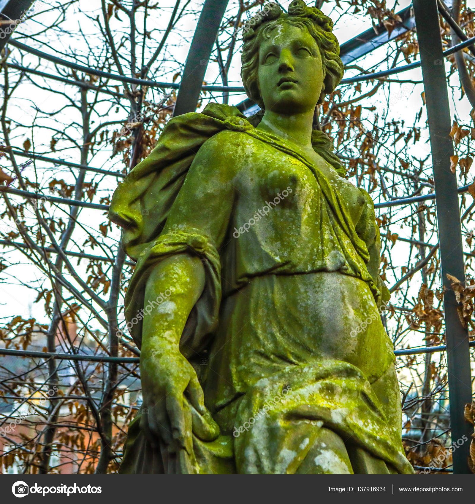 AMSTERDAM, NETHERLANDS - JANUARY 08, 2017: Famous sculptures of