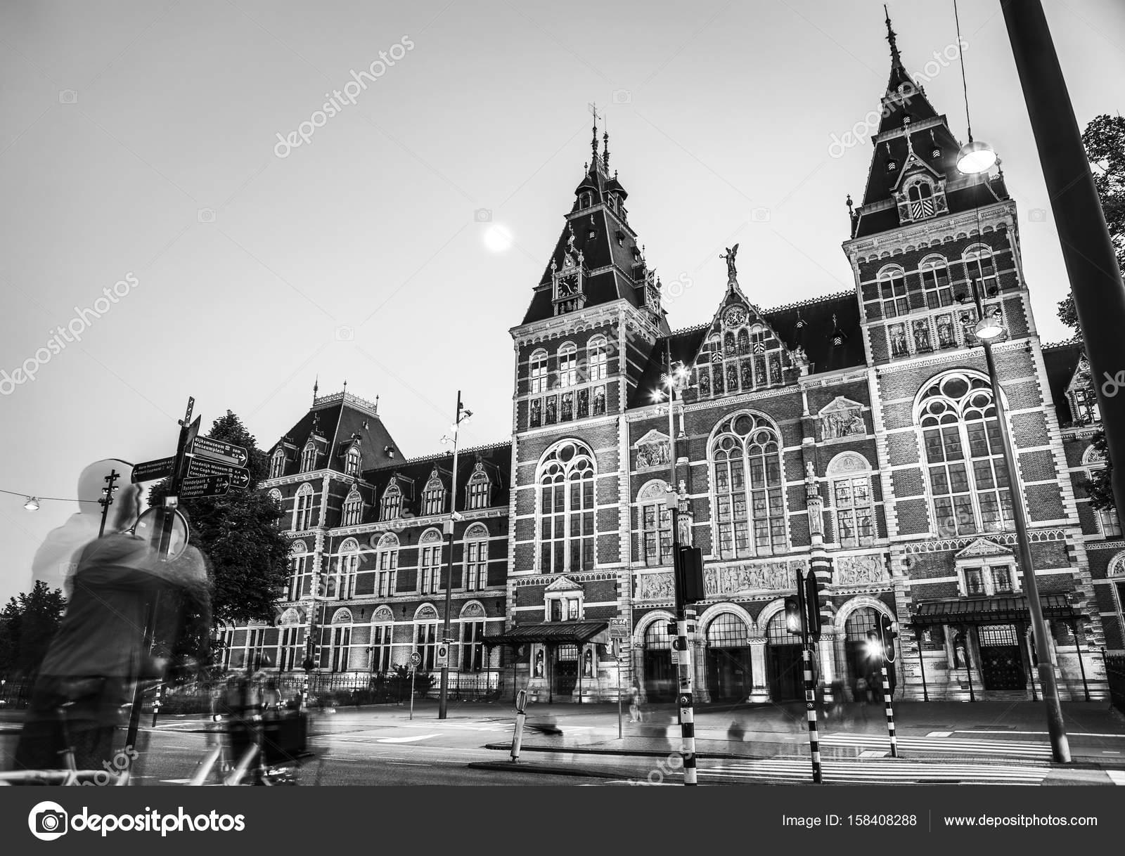 Genoeg Amsterdam naar zomer zwart-wit foto. Beroemde nationale Rijks @VY85