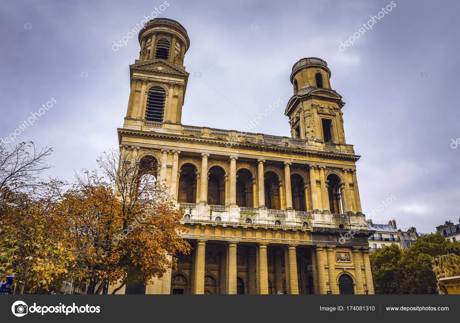 paris france november 11 2017 famous places and buildings of