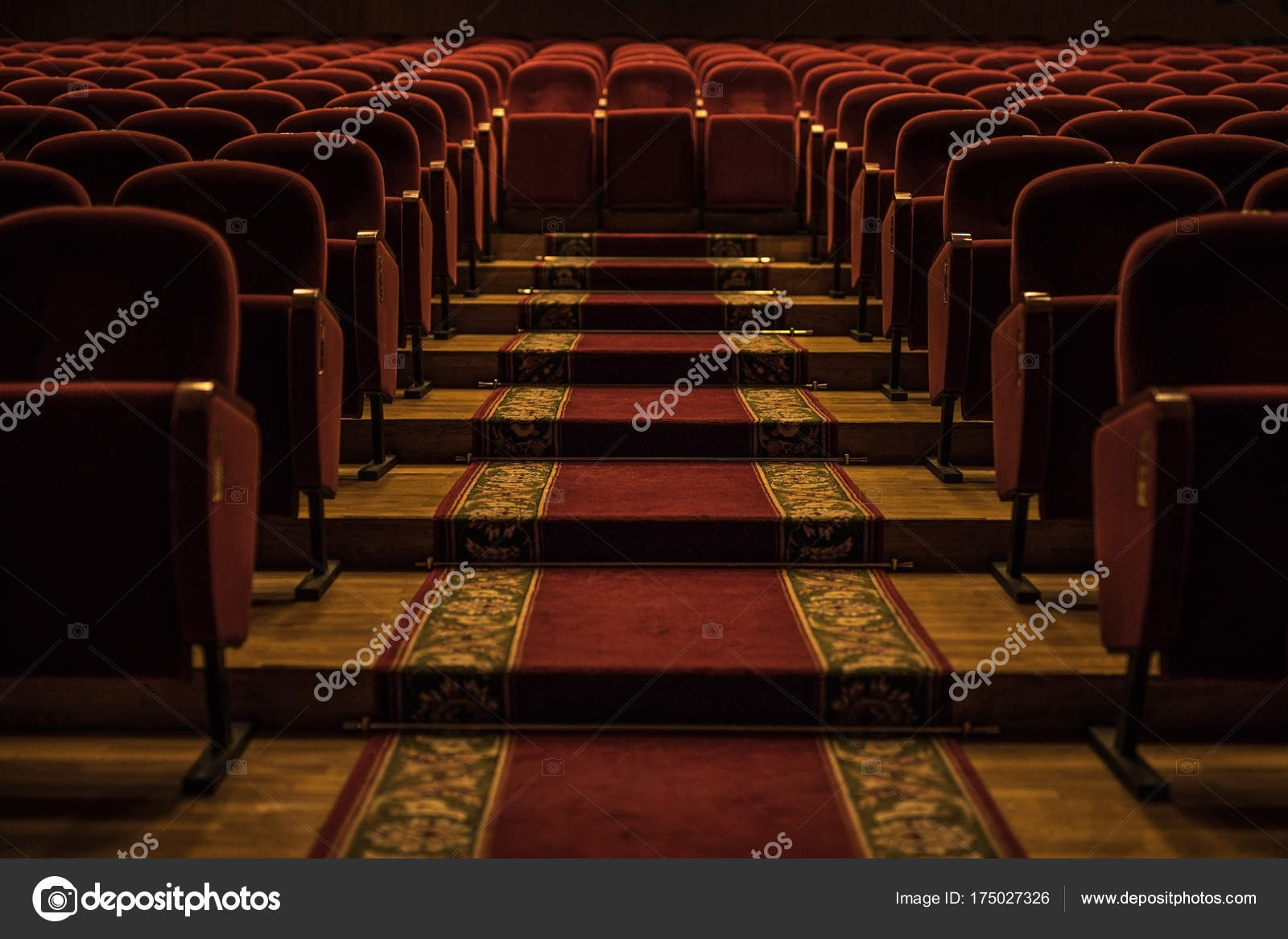 Red Armchairs Of Old Theater As Conceptual Background. U2014 Stock Photo