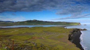 Beautiful scenic landscape of Icelandic nature. HD Footage.
