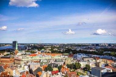 Old European city of Riga view from the top.