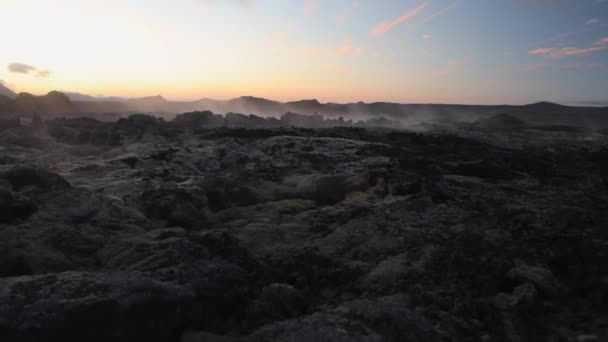 Picturesque landscape of traditional Iceland nature. HD Footage.