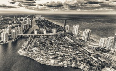 Miami Beach from helicopter