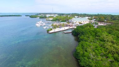 Islamorada coastline, aerial view of Florida
