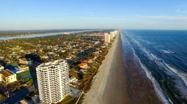 Beautiful aerial view of Daytona Beach on a sunny day, FL