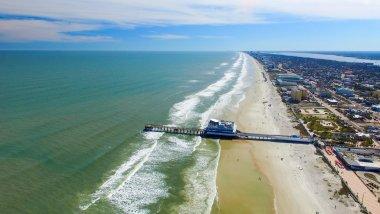 DAYTONA BEACH, FL - FEBRUARY, 2016: Aerial view of city skyline