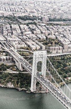 George Washington Bridge, New York City from the sky