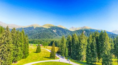 Valley of Dolomites, Panoramic view of Italian Alps
