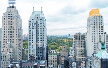 Beautiful aerial view of New York City buildings