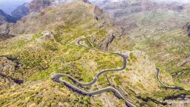 Mountain road, aerial view