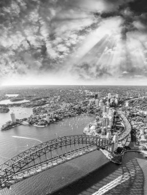 Aerial view of Sydney Harbour Bridge, Australia