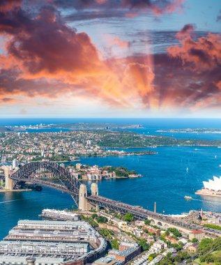 Sydney Harbour, NSW, Australia at dusk
