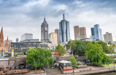Beautiful skyline of Melbourne CBD, Victoria - Australia