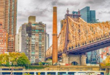 Buildings of Manhattan as seen from Roosevelt Island, New York C