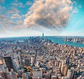 Sunset view of New York Skyline