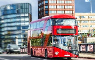 Double Decker bus on Lambeth bridge, London