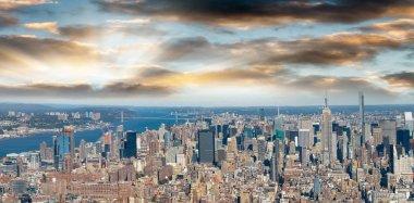 New York City - Aerial view of Manhattan skyline