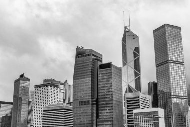 Hong Kong modern skyline at dusk