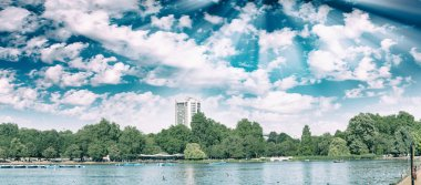 London Hyde Park on a beautiful summer day