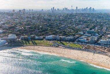 Bondi Beach from helicopter, Sydney