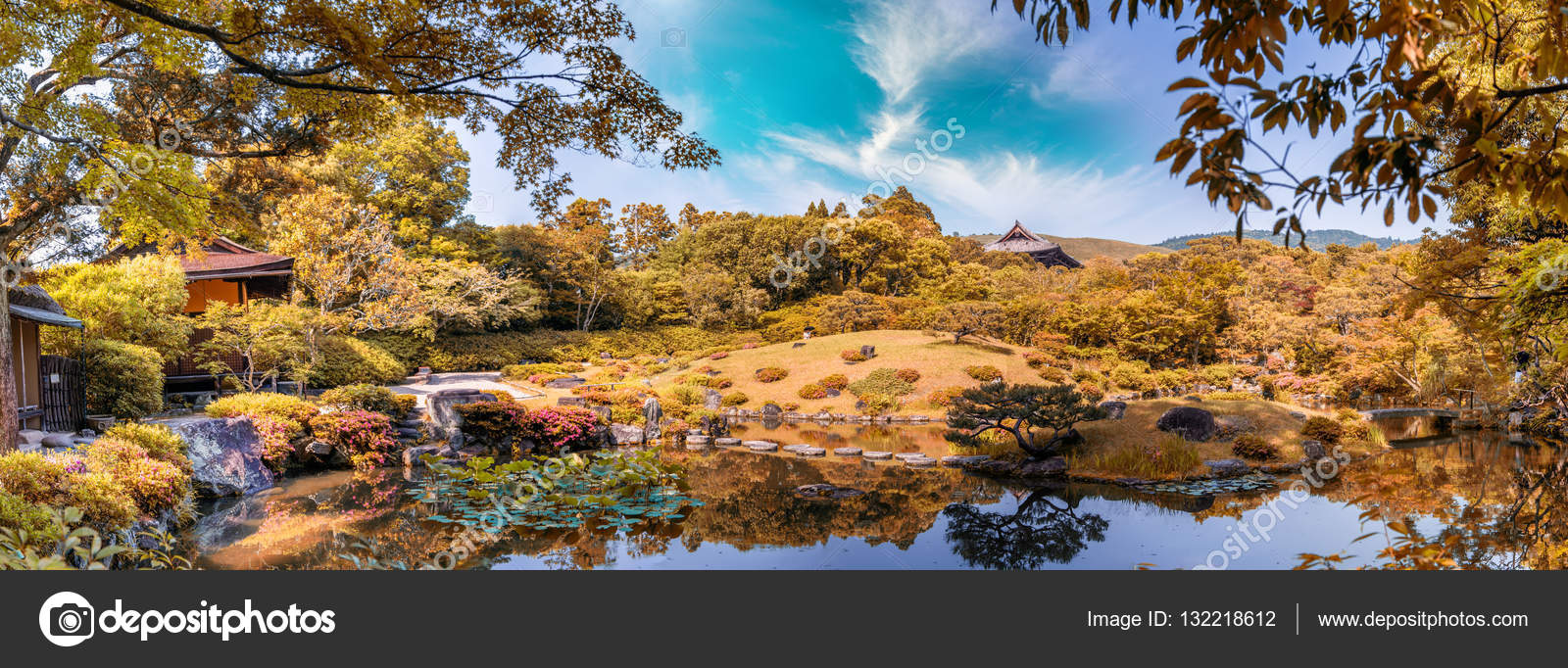 Nara, Japan - UNESCO World Heritage Site. Isuien Garden from Mei ...