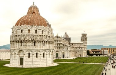 Square of Miracles, Pisa. Aerial view from ancient city walls