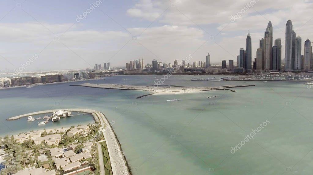 Jumeirah Palm Island, aerial view of Dubai - UAE