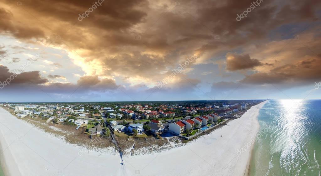 Aerial view of Panama City Beach - Florida, USA