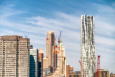 New York City skyline on a beautiful day