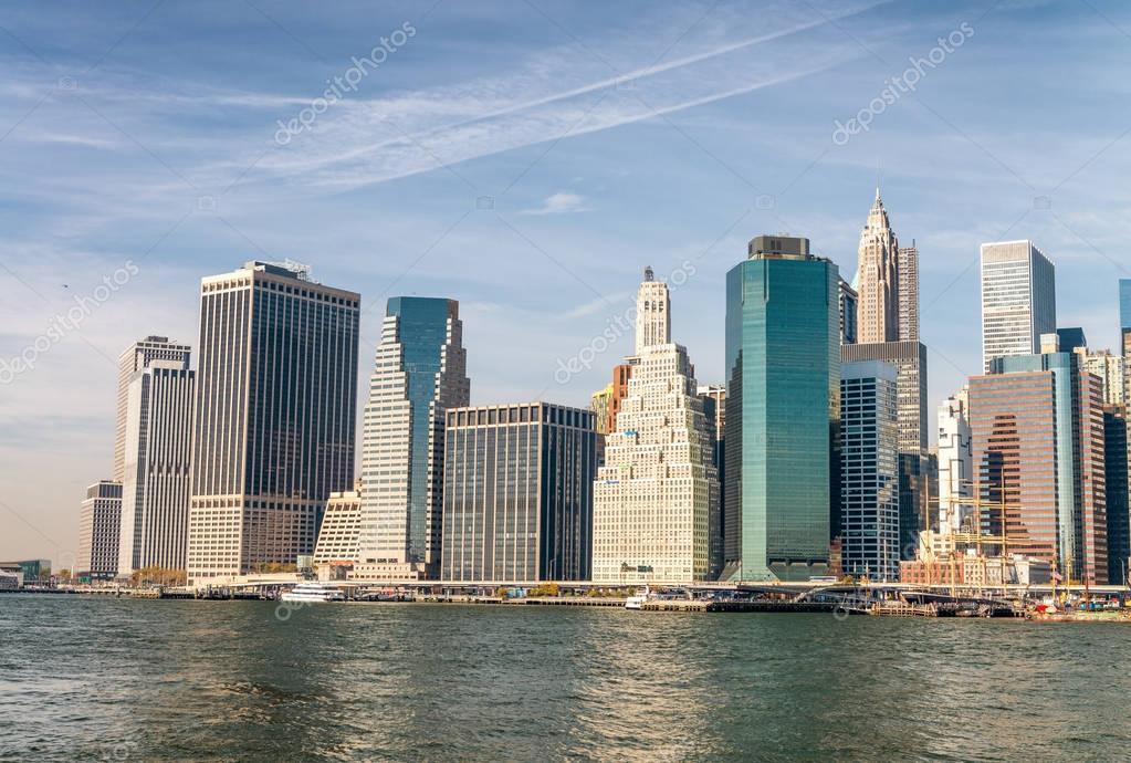 Tall buildings of Manhattan, New York City - USA