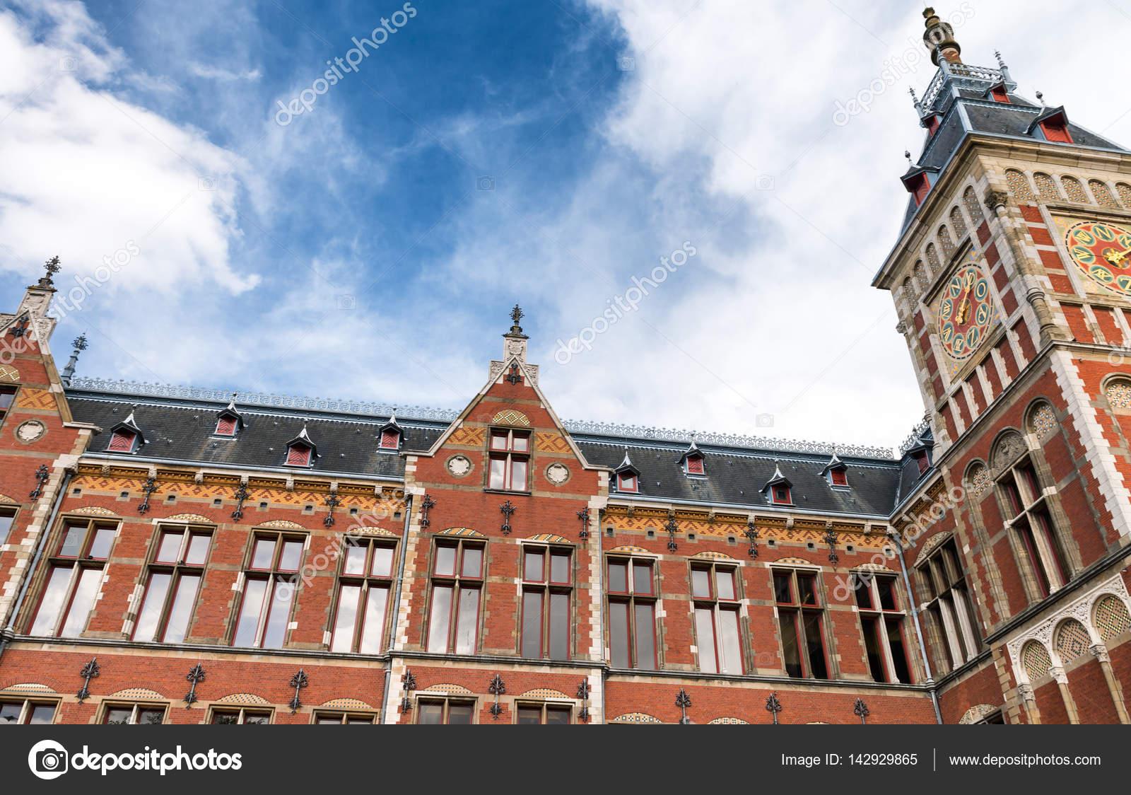Architektur Amsterdam amsterdam schöne äußere architektur des hauptbahnhof stockfoto