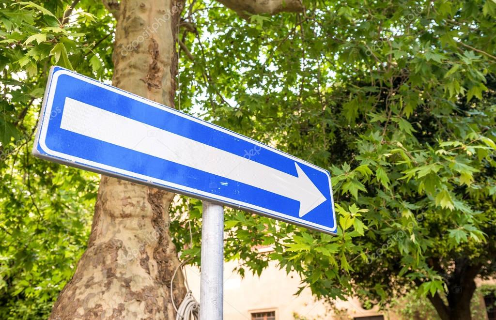 One way sign - Italy