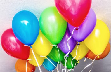 Colourful balloons in a party