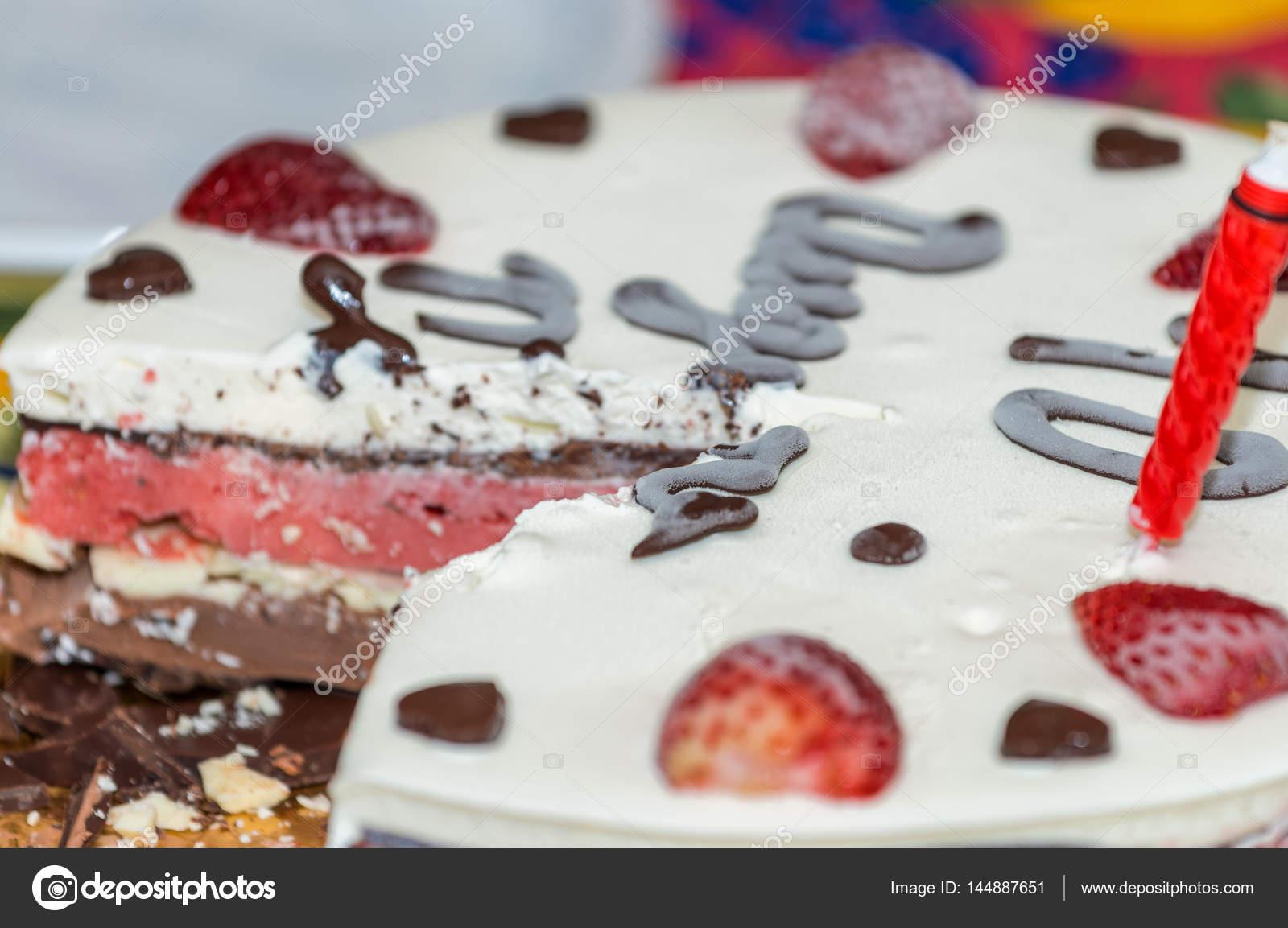 Anniversaire Fruits Et Tarte Au Chocolat Photographie Jovannig