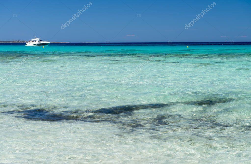 Beautiful turquoise sea water