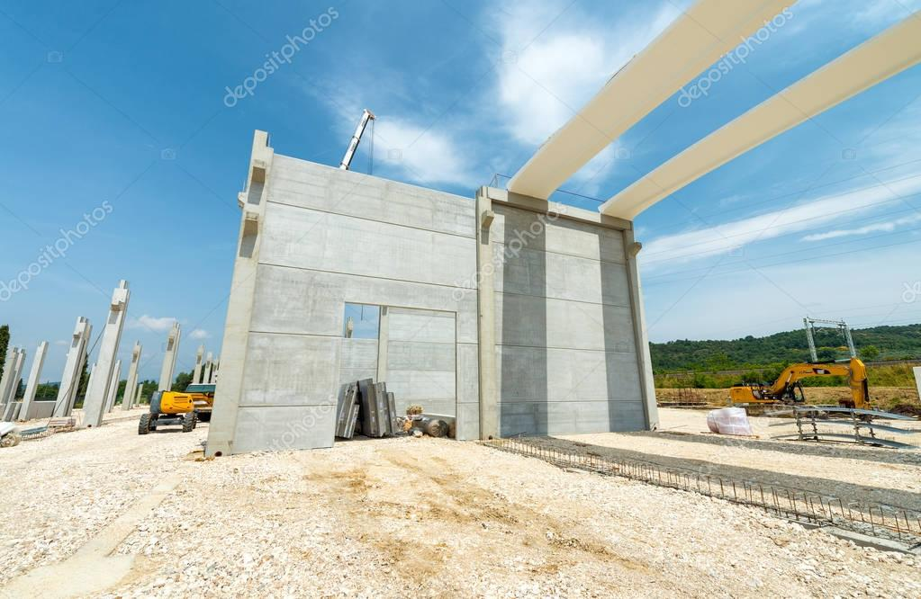Basic building structure in construction building site