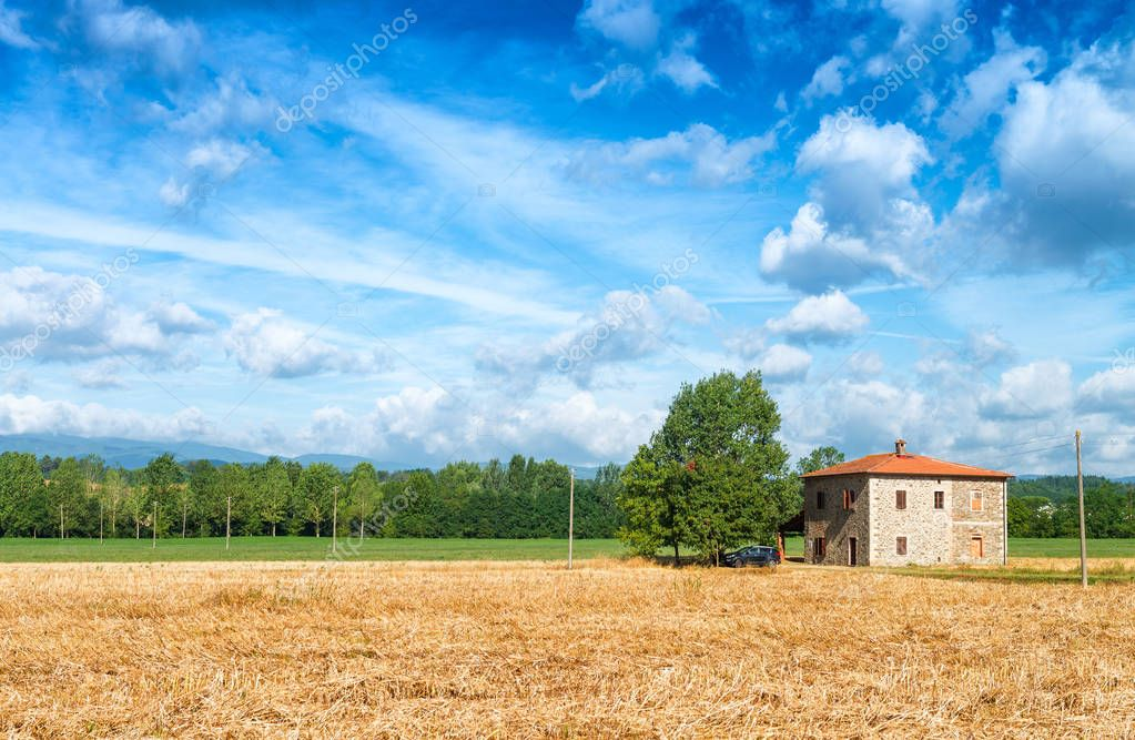 Farm in countryside land
