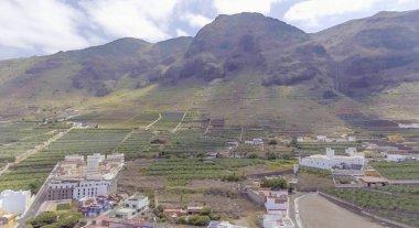 Panoramic aerial view of Tenerife coastline, Canary Islands