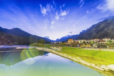 Lake of Auronzo at night, Italian Dolomites