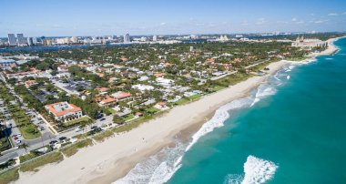 Palm Beach aerial coastline, Florida - USA