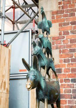 The Bremen Town Musicians Statue in Bremen, Germany