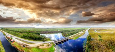 Amazing aerial view of Everglades National Park, Florida