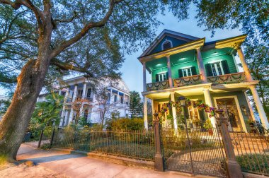 Beautiful colorful homes of New Orleans, Louisiana
