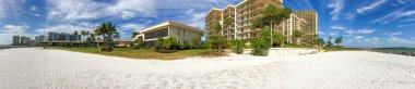 Panoramic view of Marco Island with beach and homes, Florida